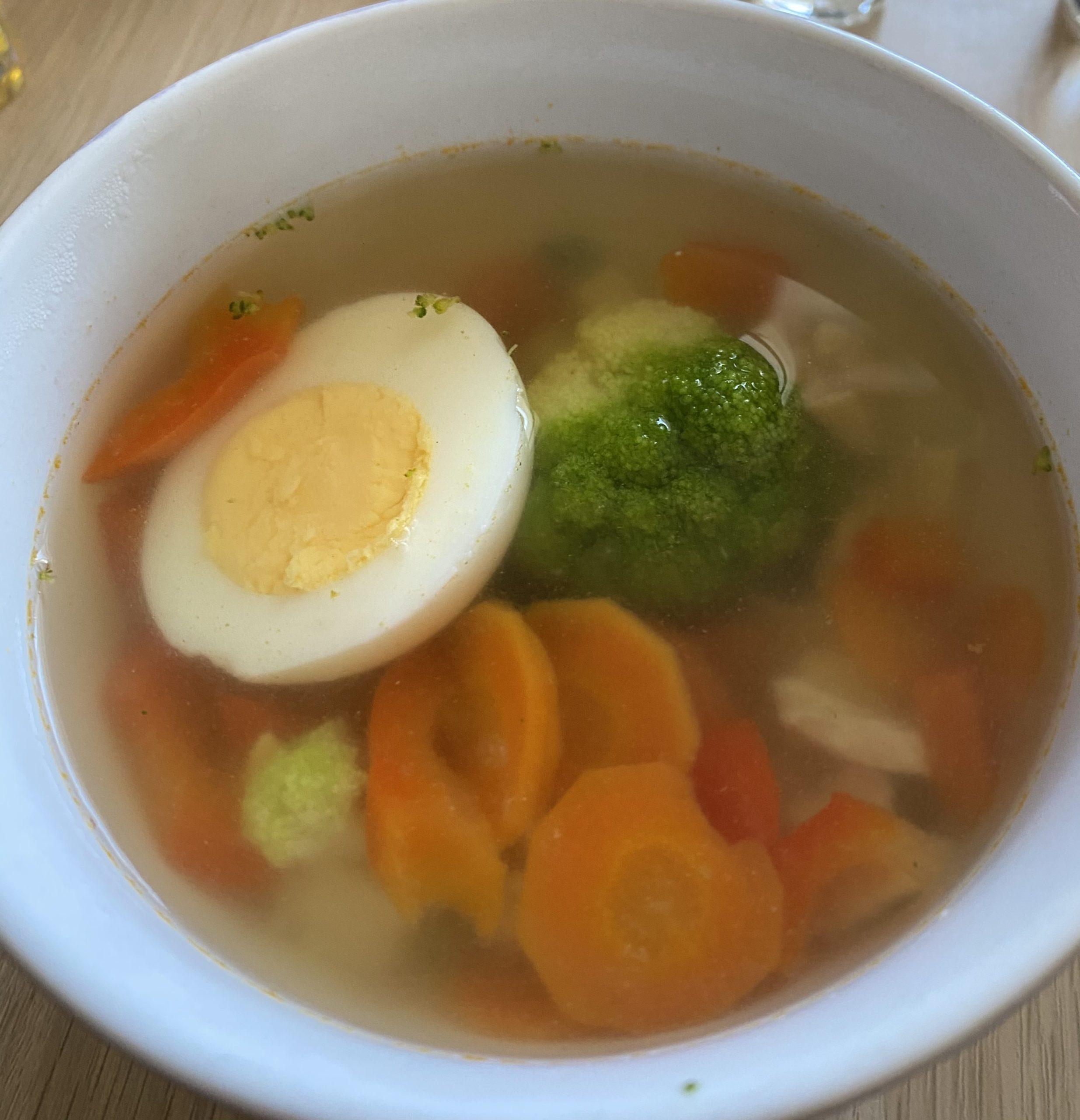 Простой куриный суп с овощами – фото