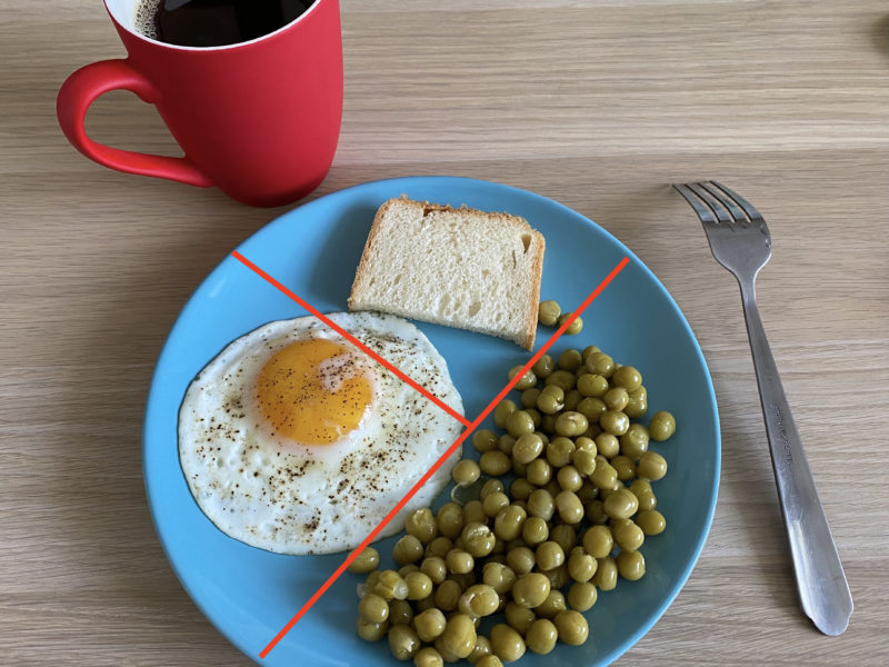 «Правило тарелки» на примере завтрака