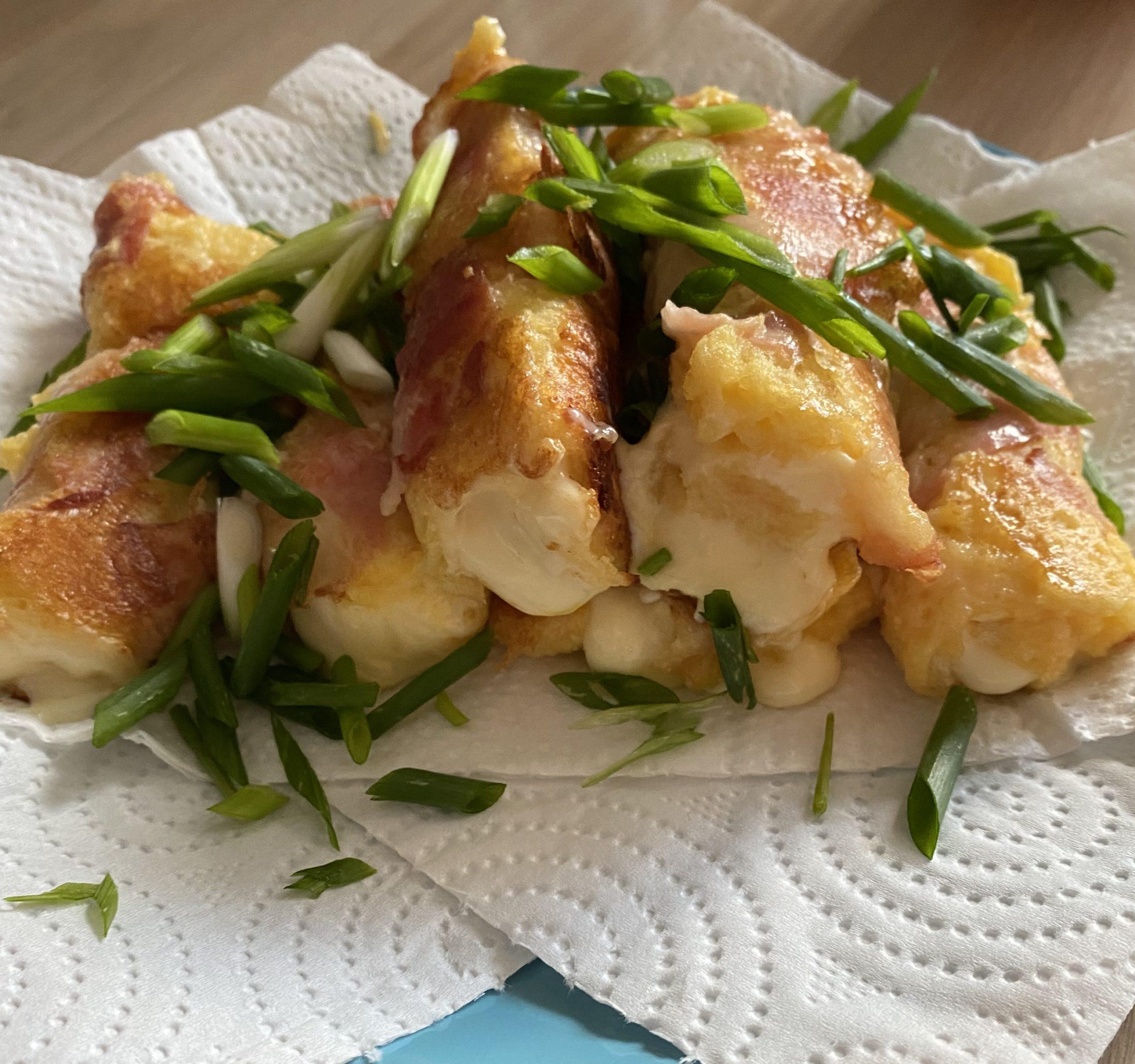 Сэндвич-рулет с беконом и сыром